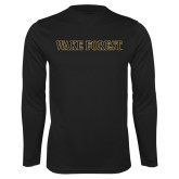 Syntrel Performance Black Longsleeve Shirt-Wake Forest