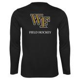 Syntrel Performance Black Longsleeve Shirt-Field Hockey