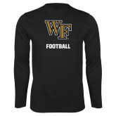 Performance Black Longsleeve Shirt-WF Football