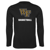 Performance Black Longsleeve Shirt-WF Basketball