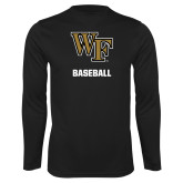 Performance Black Longsleeve Shirt-WF Baseball
