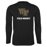 Performance Black Longsleeve Shirt-WF Field Hockey