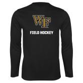 Syntrel Performance Black Longsleeve Shirt-WF Field Hockey