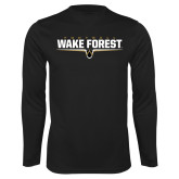 Performance Black Longsleeve Shirt-Football Design