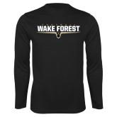 Syntrel Performance Black Longsleeve Shirt-Football Design