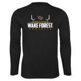 Syntrel Performance Black Longsleeve Shirt-Football Field Design