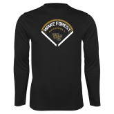 Performance Black Longsleeve Shirt-Baseball Plate Design