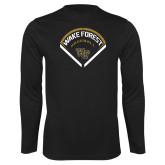 Syntrel Performance Black Longsleeve Shirt-Baseball Plate Design