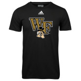 Adidas Climalite Black Ultimate Performance Tee-WF w/ Deacon Head