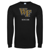 Black Long Sleeve TShirt-Soccer