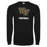Black Long Sleeve TShirt-WF Football
