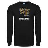 Black Long Sleeve TShirt-WF Baseball