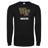 Black Long Sleeve TShirt-WF Soccer