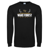 Black Long Sleeve TShirt-Football Field Design