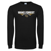 Black Long Sleeve TShirt-Football Wing Design