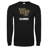 Black Long Sleeve TShirt-WF Alumni