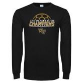 Black Long Sleeve T Shirt-2017 Mens Soccer Champions