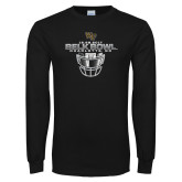 Black Long Sleeve T Shirt-Belk Bowl - Face Mask Design
