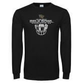 Black Long Sleeve T Shirt-Belk Bowl - Face Mask Design