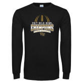 Black Long Sleeve T Shirt-2017 Belk Bowl Champions - Football Stacked