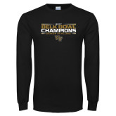Black Long Sleeve T Shirt-2017 Belk Bowl Champions - Stacked Bars