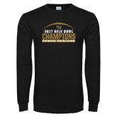 Black Long Sleeve T Shirt-2017 Belk Bowl Champions - Football Arched