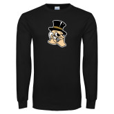 Black Long Sleeve TShirt-Deacon Head