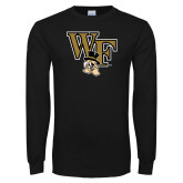 Black Long Sleeve TShirt-WF w/ Deacon Head