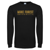 Black Long Sleeve TShirt-Wake Forest University