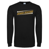 Black Long Sleeve TShirt-Slanted Wake Forest Demon Deacons