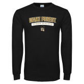 Black Long Sleeve TShirt-Arched Wake Forest Demon Deacons