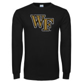 Black Long Sleeve TShirt-WF Distressed