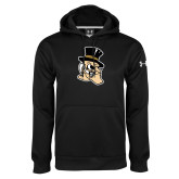 Under Armour Black Performance Sweats Team Hoodie-Deacon Head