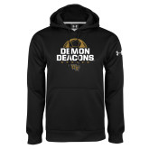 Under Armour Black Performance Sweats Team Hoodie-Stacked Soccer Design