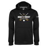 Under Armour Black Performance Sweats Team Hoodie-Field Hockey Design