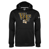 Under Armour Black Performance Sweats Team Hoodie-WF w/ Deacon Head