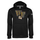 Under Armour Black Performance Sweats Team Hoodie-WF w/ Deacon Head