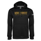 Under Armour Black Performance Sweats Team Hoodie-Wake Forest University