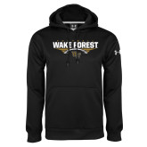 Under Armour Black Performance Sweats Team Hoodie-Football Wing Design