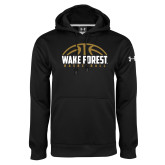 Under Armour Black Performance Sweats Team Hoodie-Arched Basketball Design