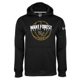 Under Armour Black Performance Sweats Team Hoodie-Arched Wake Forest in Basketball