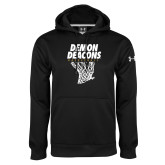 Under Armour Black Performance Sweats Team Hoodie-Basketball Net Design