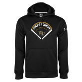 Under Armour Black Performance Sweats Team Hoodie-Baseball Plate Design