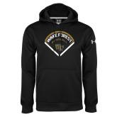 Under Armour Black Performance Sweats Team Hoodie-Baseball Plate Design