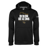 Under Armour Black Performance Sweats Team Hoodie-Baseball Stiches Design
