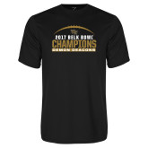 Performance Black Tee-2017 Belk Bowl Champions - Football Arched