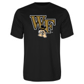 Performance Black Tee-WF w/ Deacon Head