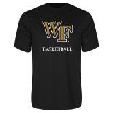 Performance Black Tee-Basketball