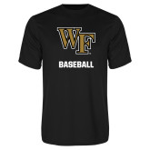 Performance Black Tee-WF Baseball