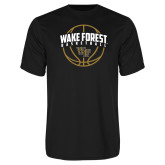 Performance Black Tee-Arched Wake Forest in Basketball